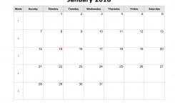 Calendar 2018 Blank Printable Fastlunchrockco
