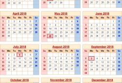 Usa Calendar For 2018