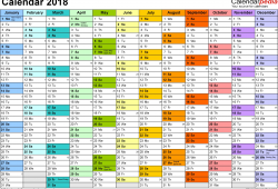 Free Printable Calendars 2018 Uk
