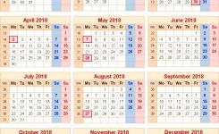 Calendar 2018 Uk With Bank Holidays Excelpdfword Templates