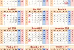 Custom Calendar 2018 Uk