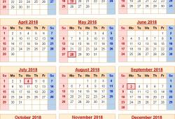 Usa Calendar Of Holidays 2018