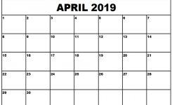 Calendar 2019 April Rudyco