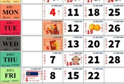 Calendar 2019 Kuda