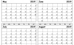 Calendar 2019 May June July Template Calendar Printable