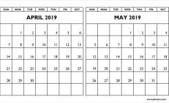 Calendar April And May 2019 Gurekubkireklamoweco