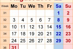 Calendar 2002 August Uk