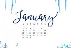 Free January 2018 Calendar Wallpaper