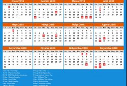 Calendar For The Year 2018 Philippines
