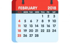 Calendar For 2018 Year Full Month Of February Icon