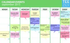 Calendar For Zilers September 2015 Celebrations For Inspiration