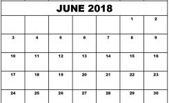 Calendar June 2018 Monthly Calendar Printable With Holidays