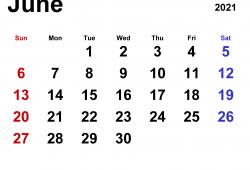 Calendar June 2021 Design