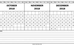 Calendar November December 2018 Larissanaestrada