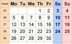 Calendar September 2016 Uk Bank Holidays Excelpdfword Templates