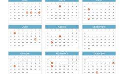 Calendario De Colombia Ao 2019 Das Festivos Feriados