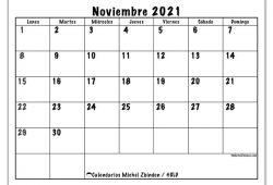 Calendario Noviembre Diciembre 2020 Enero 2021