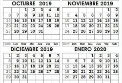 Calendario De Noviembre Diciembre 2020