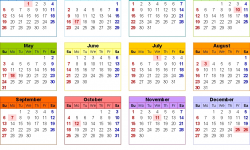 Canada 2020 Holidays Calendar