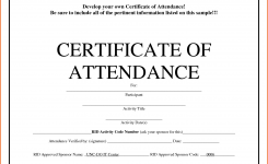 Certificate Of Perfect Attendance Sample Best Of Attendance