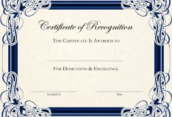 Free Printable Editable Certificate Templates