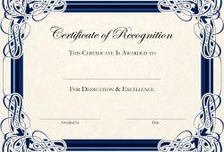 Free Printable Editable Certificate Templates