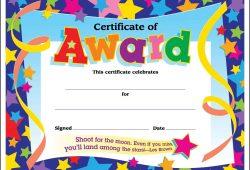 Blank Certificate Templates Kids
