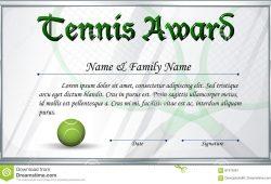Tennis Award Certificate Template