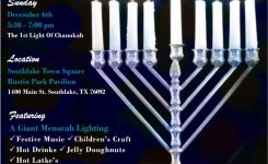 Chanukah Southlake Town Square Chabad Of Arlington The Mid Cities