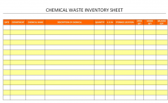 Chemical Waste Inventory Sheet