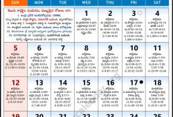 Telugu Calendar 2018 Usa Columbus