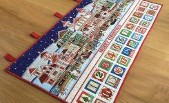 Christmas Advent Calendar Fabric Holiday Countdown Heirloom Advent