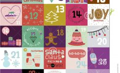 Christmas And New Year Greeting Calendar Stock Vector Illustration