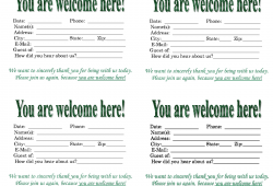 Free Church Visitor Card Templates