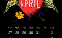 Clipart 2016 April Calendar