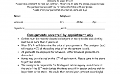 Clothing Consignment Contract Template Scope Of Work Template My