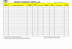 Equipment Inventory Log Template
