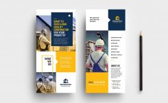 Construction Company Dl Rack Card Template In Psd Ai Vector