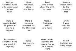 Free Printable Advent Calendar Ideas