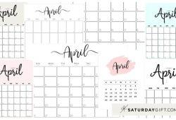 April 2021 Calendar Landscape Portrait Calendar