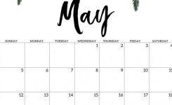 Cute May 2019 Calendar Printable Floral Design Wallpaper May 2019