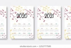 2021 Cute Yearly Calendar