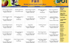 Cycle Menu Template More Info Middle School Cycle Lunch Menu