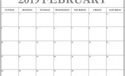 Daily Calendar 2019 February Calendar Format Example
