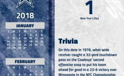 Dallas Cowboys 2018 Desk Calendar 9781469349794 Calendars