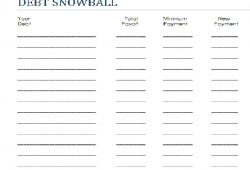 Dave Ramsey Debt Snowball Worksheets Pdf