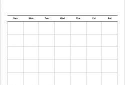 Free Blank Calendar Template 5 Day Week