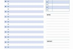 Day To Day Calendar Template Free