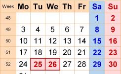 Dec 2018 Calendar Uk Flash Design