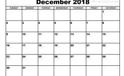 December 2018 Calendar Printable Yspages